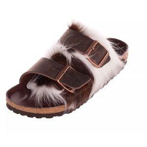 NWT Birkenstock Arizona Genuine Cow Fur Sandal